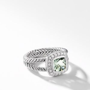 {David Yurman} Albion Ring, Prasiolite & Diamonds